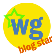 Waking Girl Web Design &quot;Blog Star&quot; logo